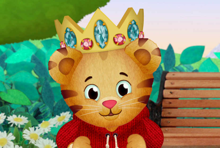 This is a graphic of Dashing Daniel Tiger Images