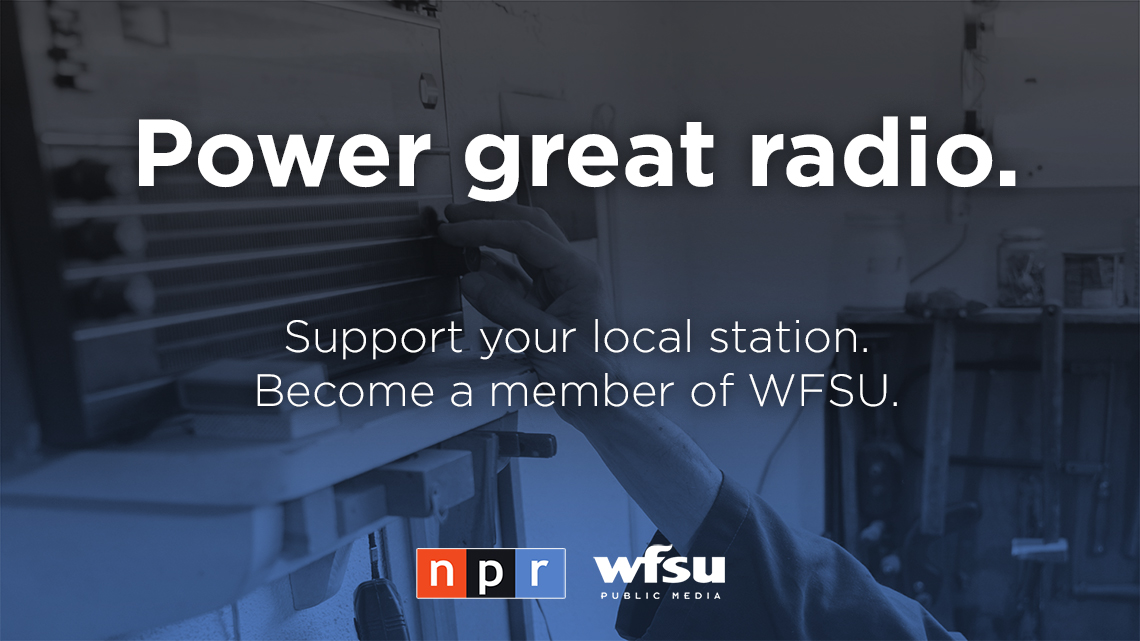 Power great radio. Support your location station. Become a member of WFSU