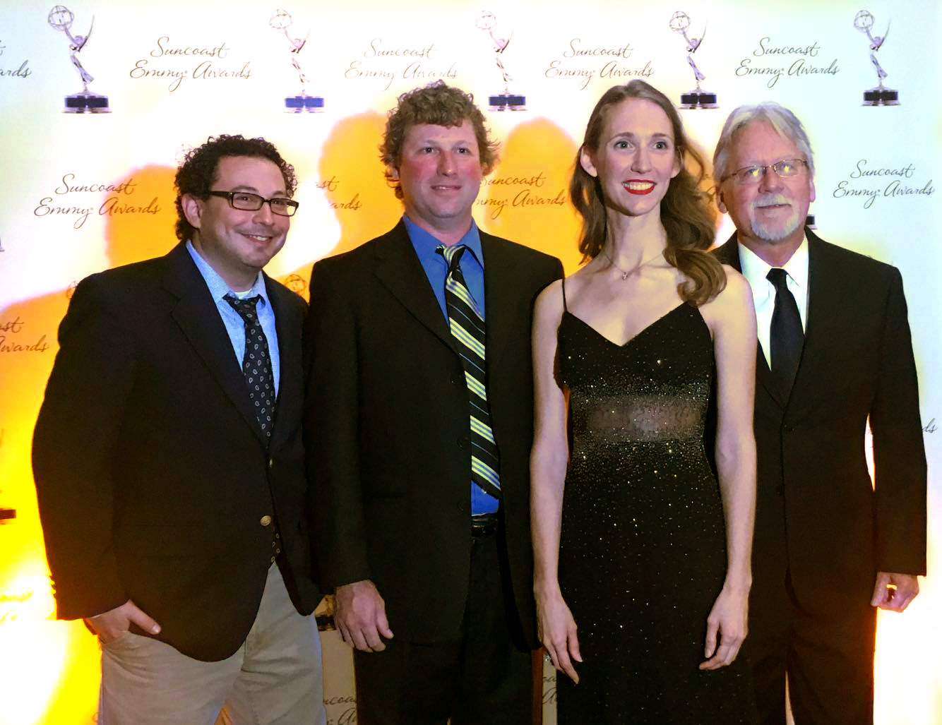 Belle and the Band poses at the Suncoast Regional Emmy� Awards. Later in the evening, they would win an award for their Local Routes theme.