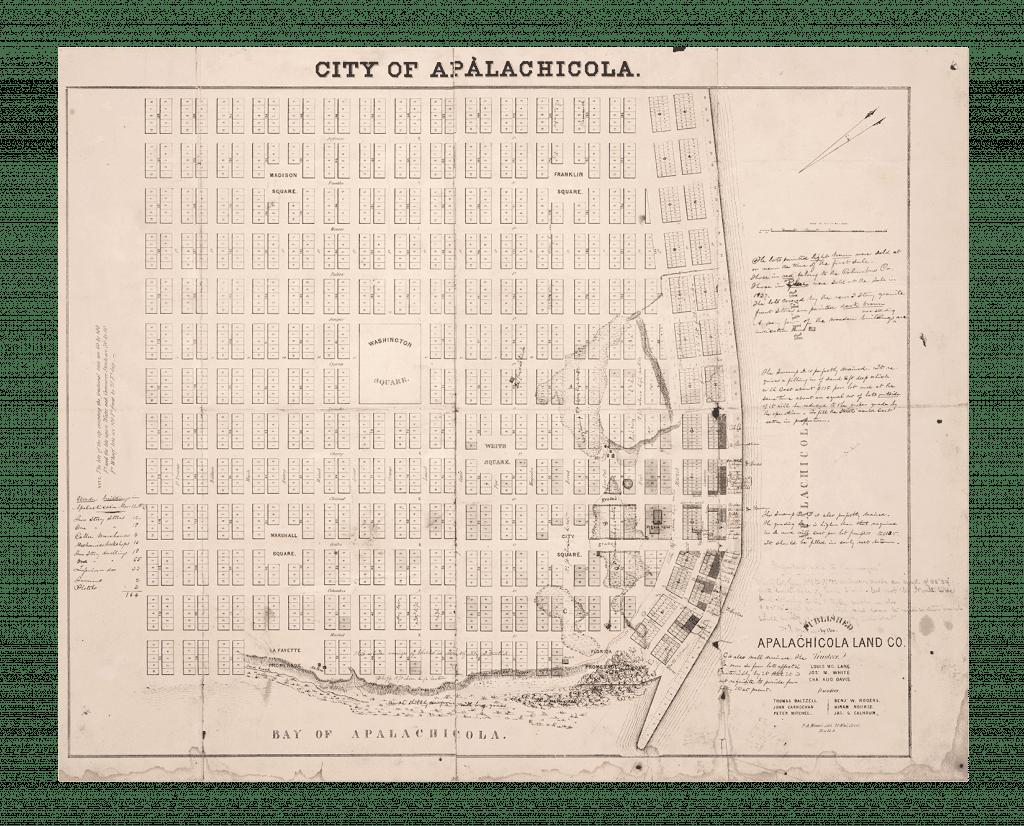 Copy of original Apalachicola plat