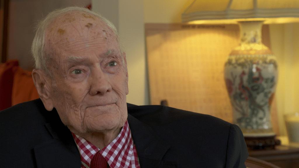 Older gentleman sitting for interview