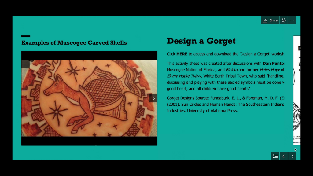 Website describing how to design a Groget. Which is a shell worn around a neck.