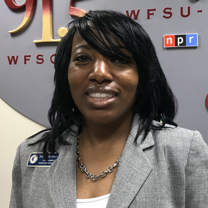 Kimberly Moore in WFSU's Lobby