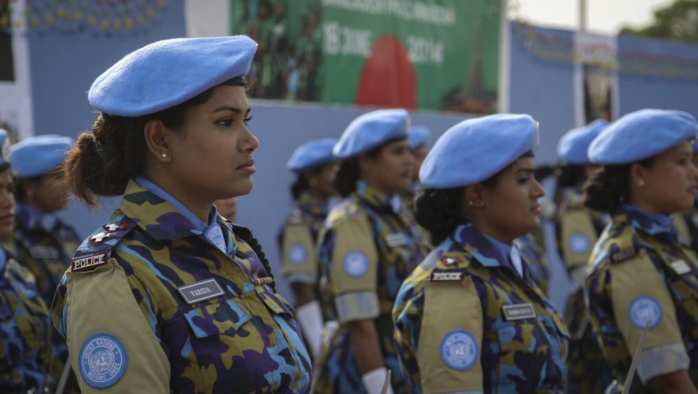 All-female Bangladeshi police unit.