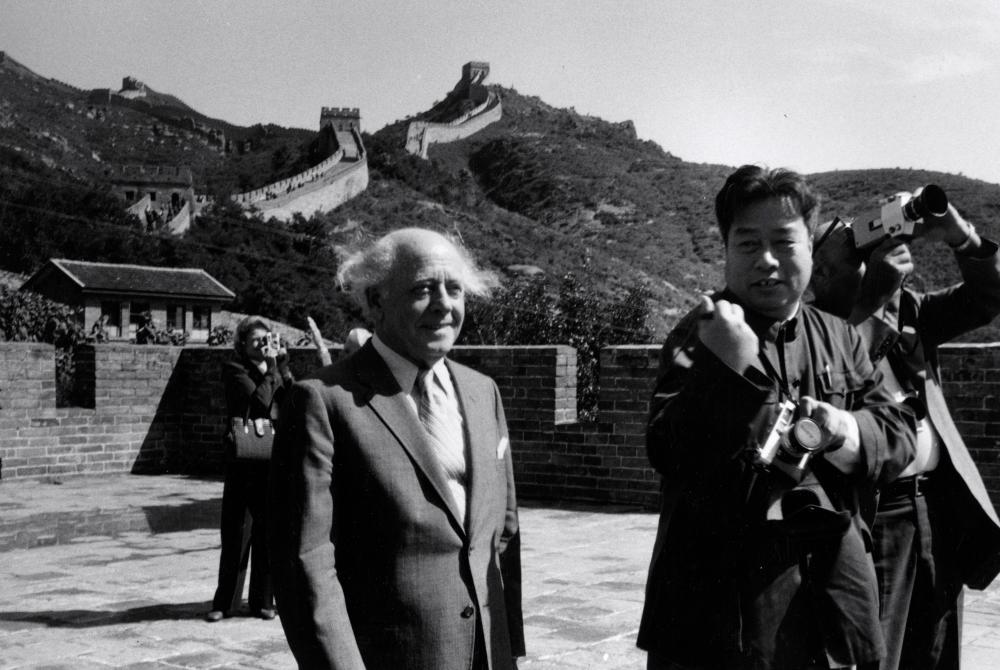 Black and white photo of Beethoven in Beijing