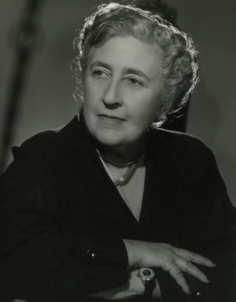 Agatha Christie in black and white