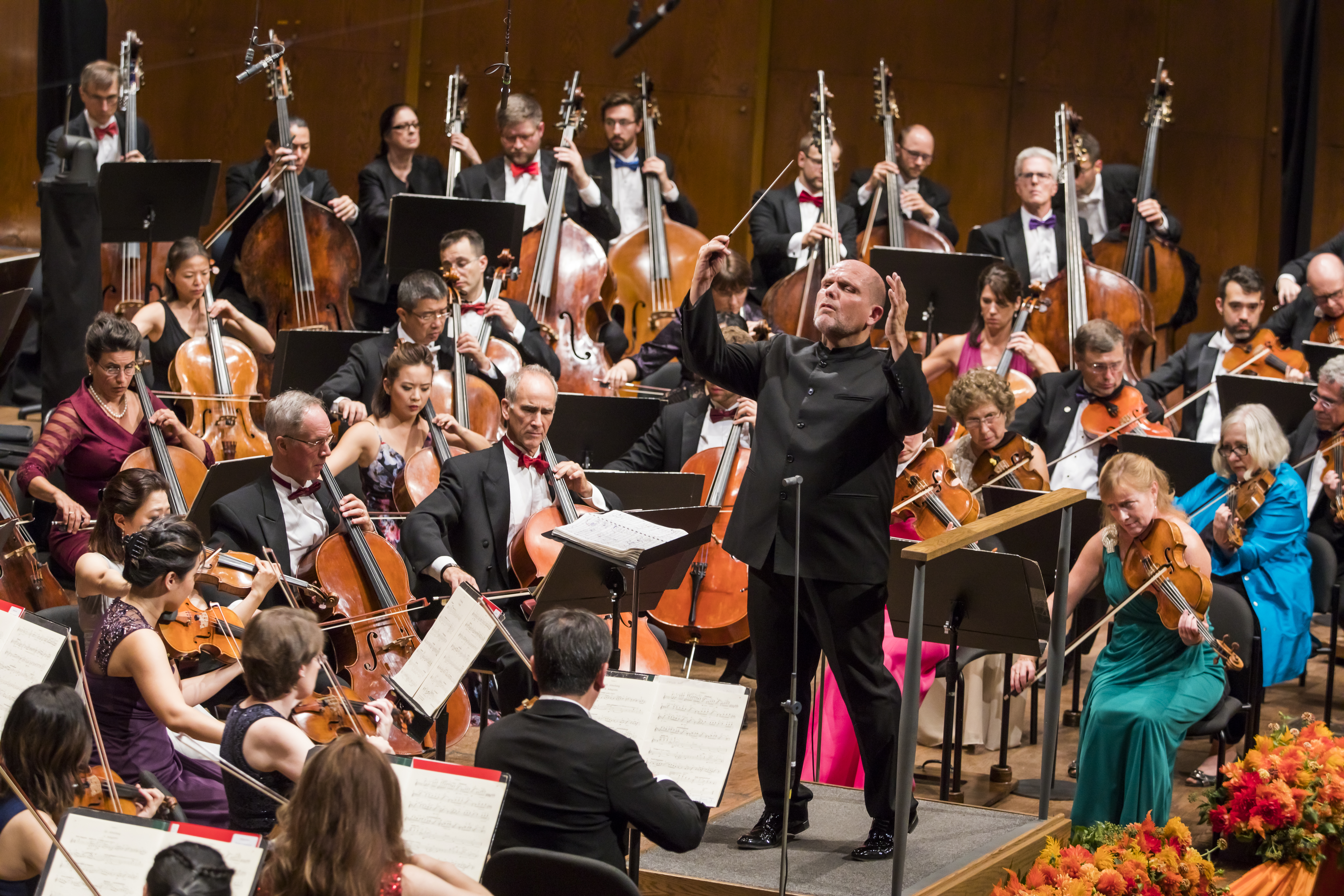 Orchestra performing on stage