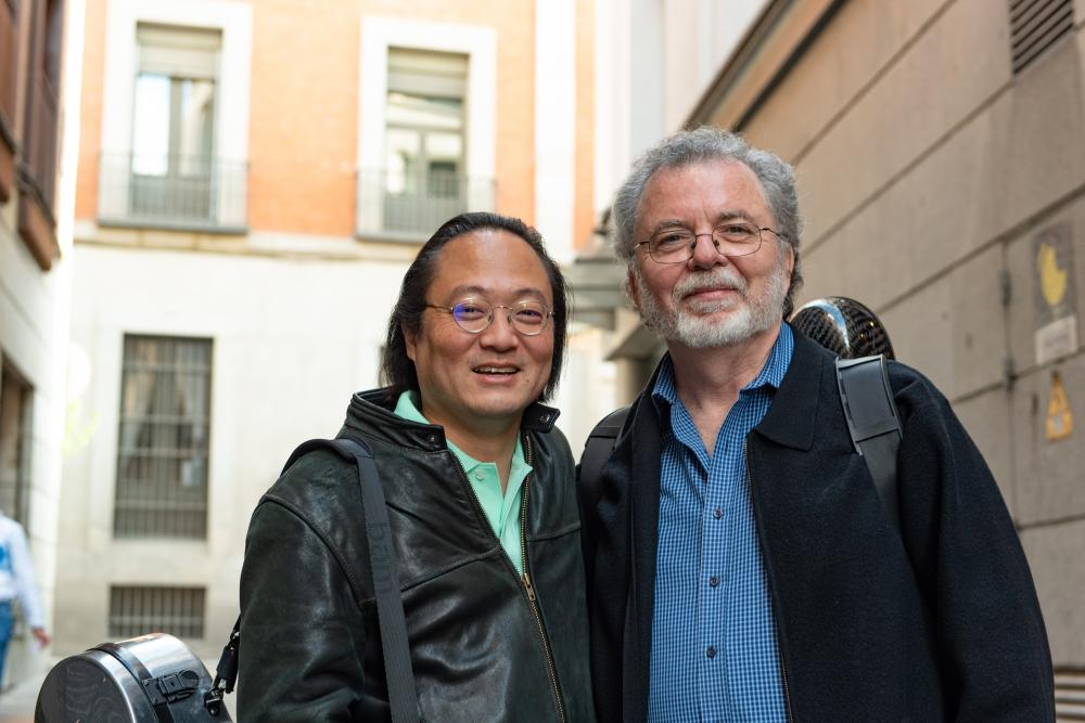 Two men smiling for the camera