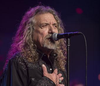Close up of Robert Plant