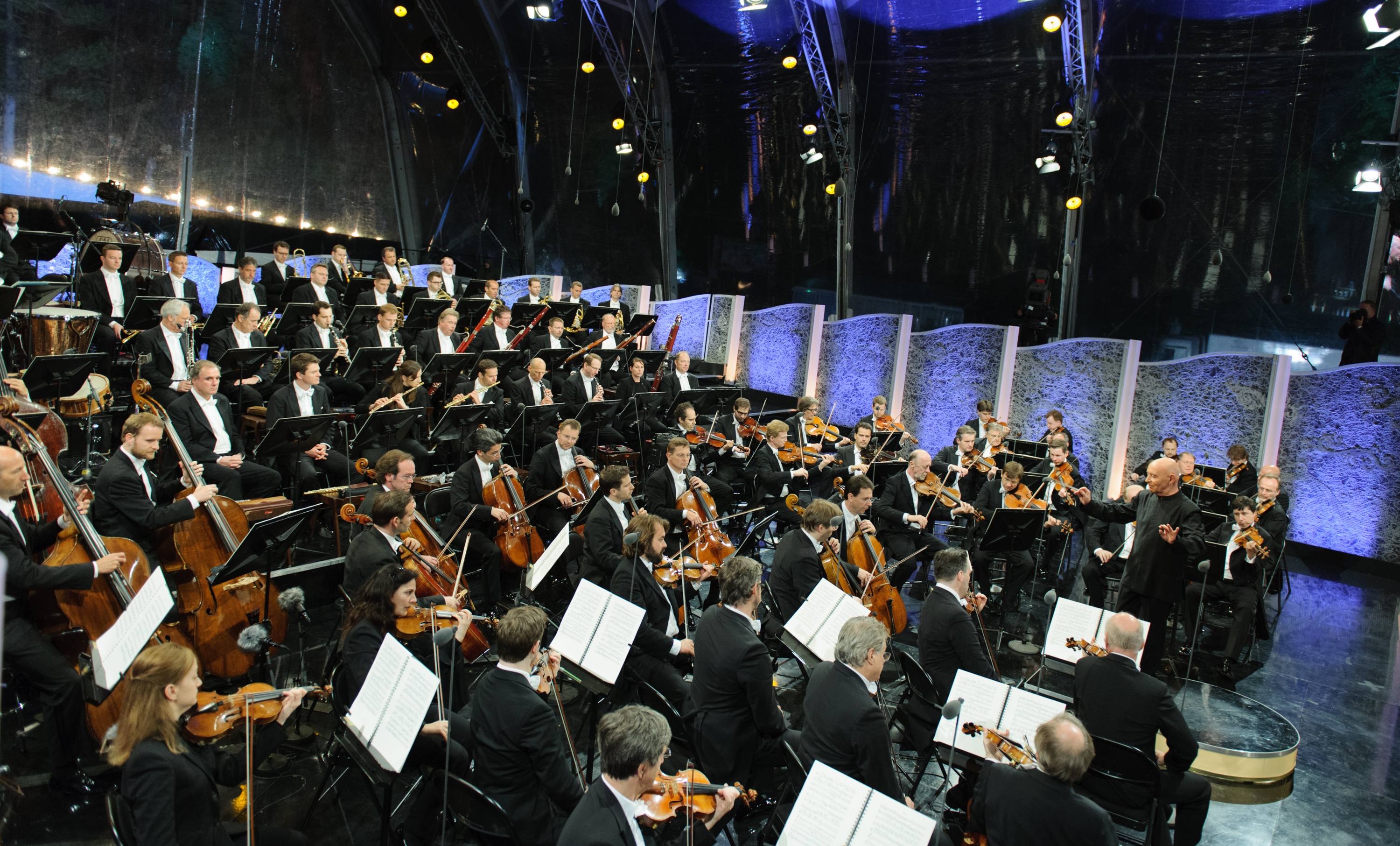 The Vienna Philharmonic Orchestra performing in Austria's Imperial Schonbrunn Palace