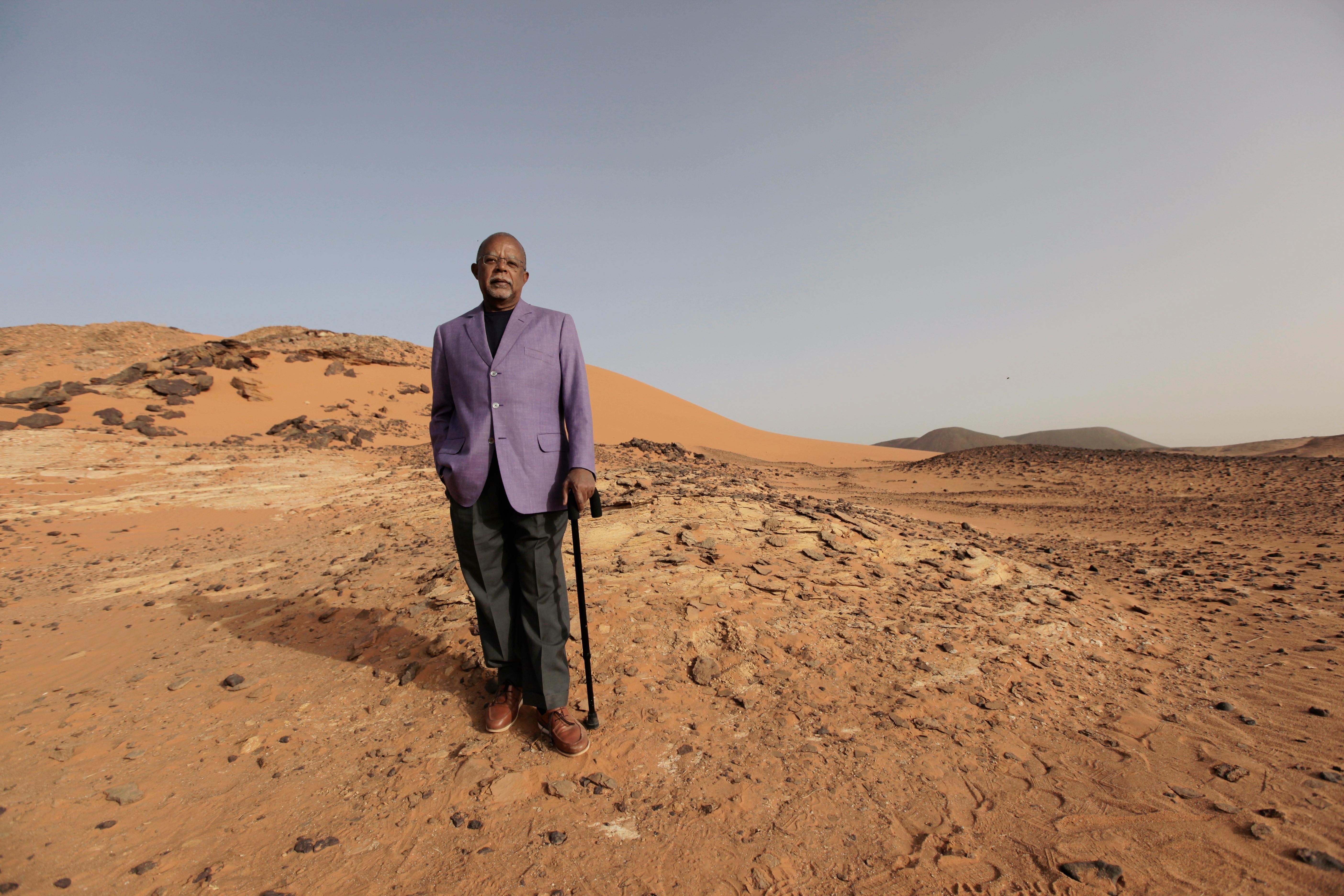 Professor Henry Louis Gates, Jr. in the desert of Sudan