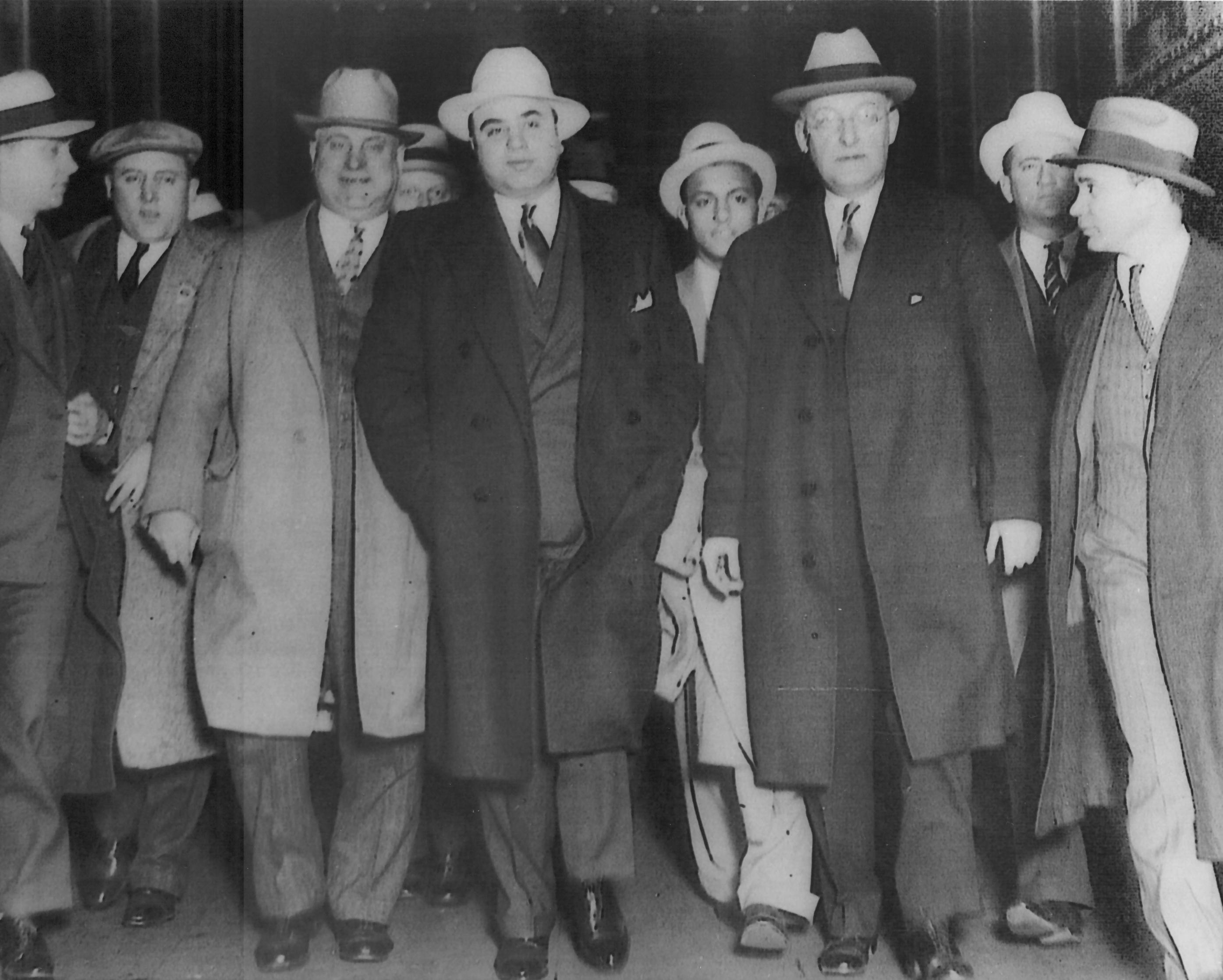 Al Capone with several of his companions