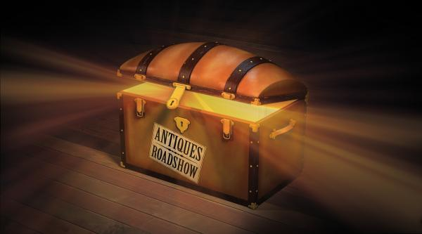 Antiques Roadshow treasure box logo