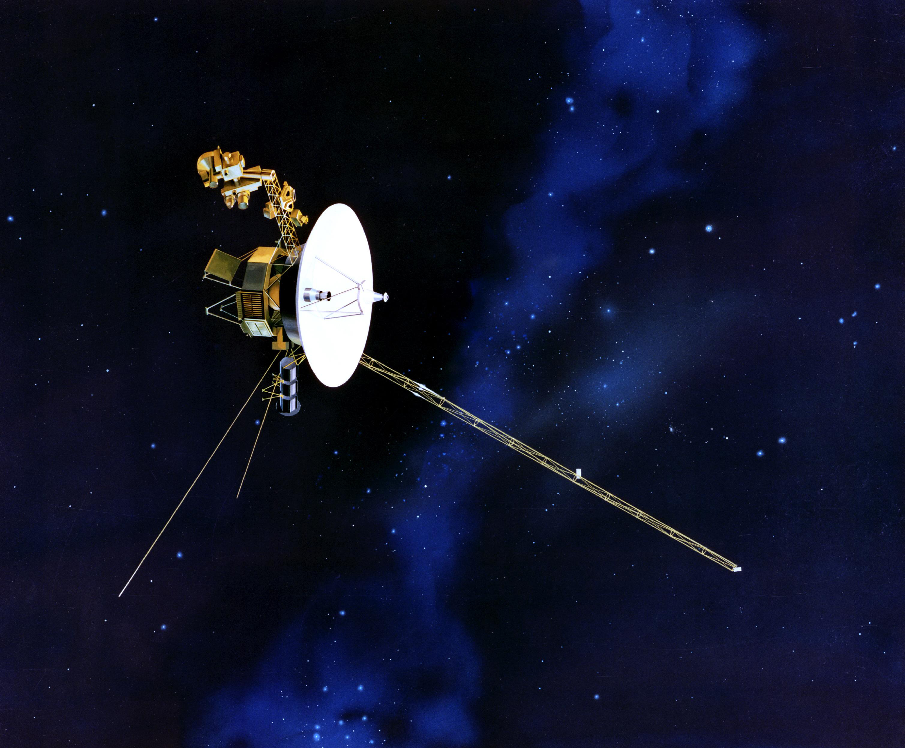 A NASA image of the Voyager probe in space